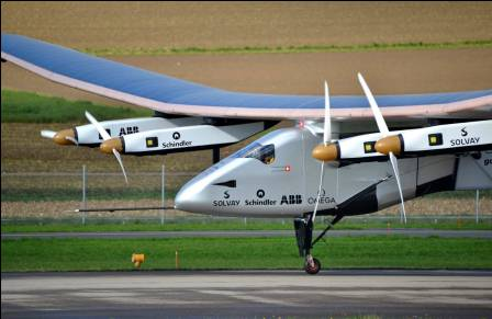 Solar Impulse arrives in Europe, pointing the way to the future of transportation