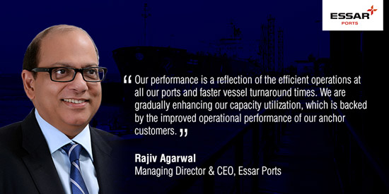 Solid all-round growth marks Essar Ports' second quarter performance