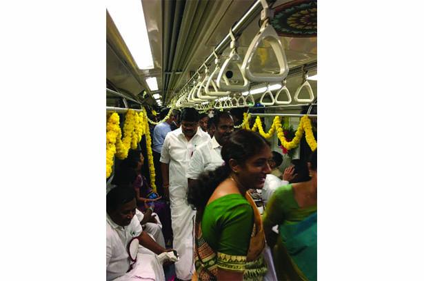 Chennai Metro Rail Project (Phase I) underground section flagged off by CM Edappadi K. Palaniswami