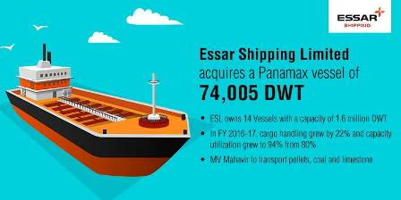 Essar Shipping Limited acquires a Panamax vessel of 74,005 DWT