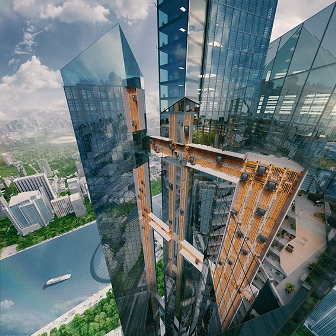 thyssenkrupp inaugurates world's first rope-less horizontal-vertical elevator system, MULTI