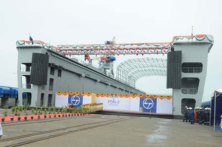 L&T launches Navy's Floating Dock