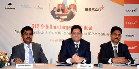 Essar Energy and Oil Bidco successfully conclude sale of Essar Oil to Rosneft and Trafigura-UCP Consortium