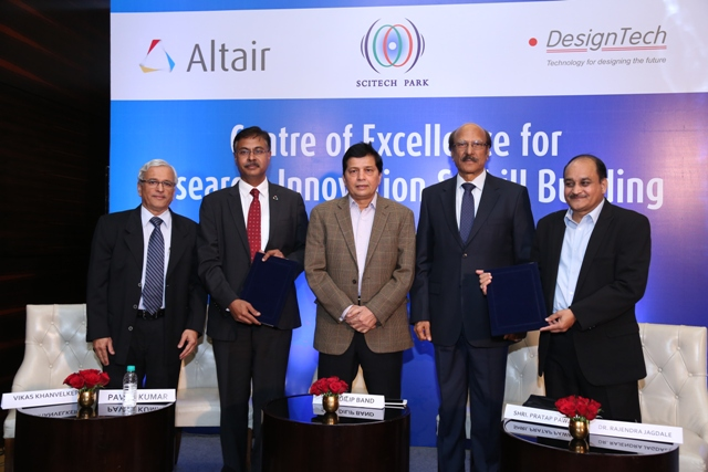 Altair and DesignTech Systems to set up Research-oriented Centre of Excellence in Collaboration with Govt. of India's Science & Tech Park