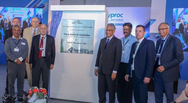 Pierre-André de Chalendar, Chairman and CEO, Compagnie de Saint-Gobain, inaugurates  India's largest Plasterboard Plant