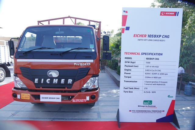 Eicher Trucks & Buses launches two new CNG variants in the Eicher Pro Range