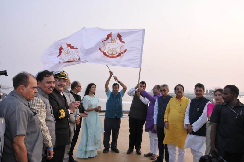 Mumbai-Goa cruise service 'Angriya' flagged off
