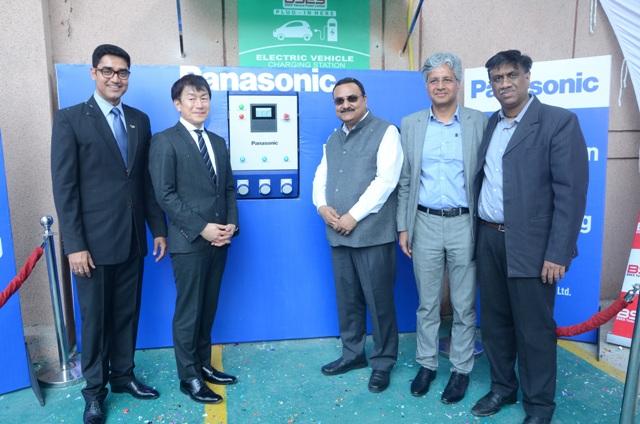 Panasonic sets up its EV charging station at BSES Yamuna Power