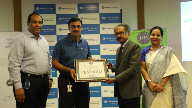 Ashok Leyland becomes India's first corporate office to receive LEED v4.1 Platinum certification
