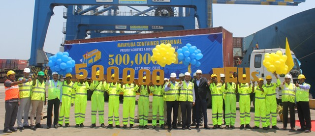 Navayuga Container Terminal crosses 500,000 TEU milestone