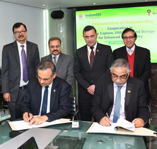 IndianOil and OIL to collaborate on CO2 - assisted Enhanced Oil Recovery