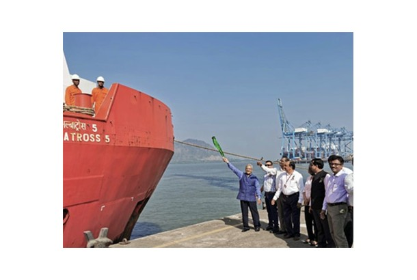 ONGC flags off its first Offshore Supply Vessel through JNPT