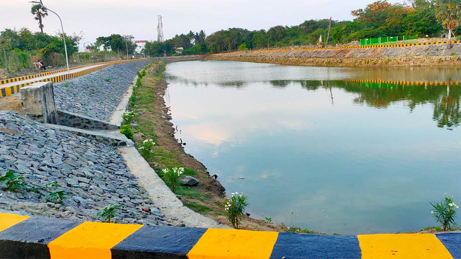 Grundfos India restores a 2.5 acre pond in Chennai