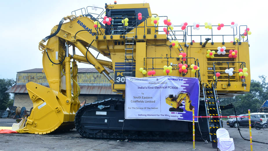 L&T delivers Komatsu's first 300T Electrical Shovel in India to SECL-Gevra