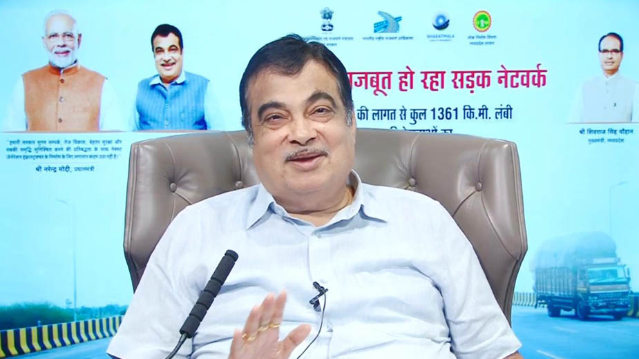 Nitin Gadkari lays inaugurates & lays foundation stones of highway projects in Madhya Pradesh