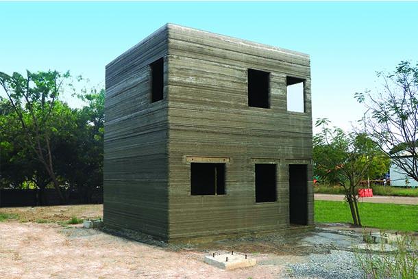 L&T 3D print a Ground plus One building