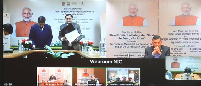 IndianOil and NDMC sign MoU for development of integrated waste to energy facilities at Ranikhera in Narela