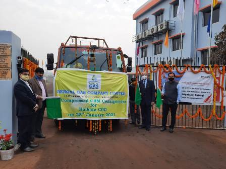 EOGEPL dispatches first ever CNG to Bengal Gas Co for Kolkata