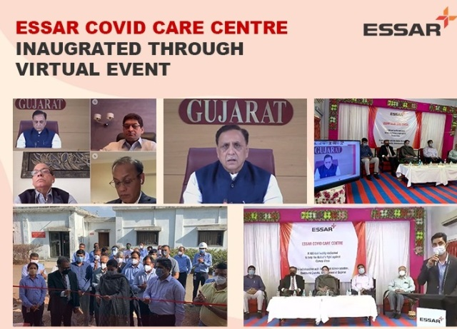 Essar sets up a 100 bed Covid Care Centre with Oxygen support at Devbhumi Dwarka district
