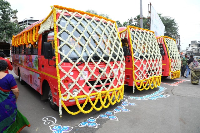 Volvo Eicher Commercial Vehicle delivers 50 Eicher CNG Buses to Pune Mahanagar Parivahan Mahamandal