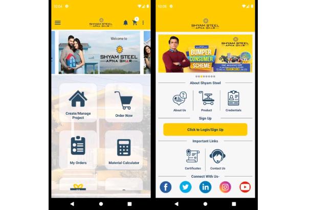 "Shyam Steel launches ""Shyam Steel Apna Ghar"" Application (App)"